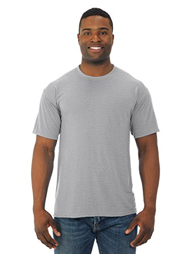 Jerzees 5.3 oz.; 100% Polyester SPORT with Moisture-Wicking T-Shirt - ATHLETIC HEATHER - S