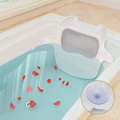 Hiverst Premium Spa Bath Pillow for Tub, Bathtub Pillow...