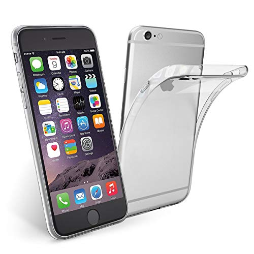 NEW'C Funda para iPhone 6 Plus, iPhone 6s Plus, Anti- Choques y Anti- Arañazos, Silicona TPU, HD Clara