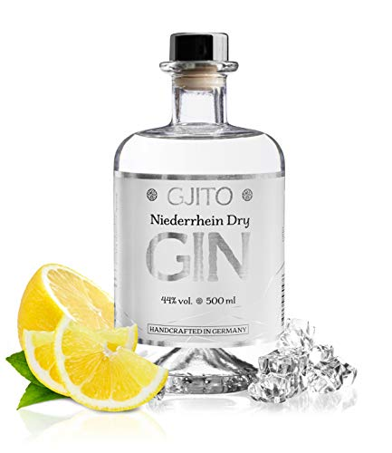 GJITO Niederrhein Dry Gin - Premium Made in Germany - Original London Dry Gin - Manufaktur am Niederrhein (0,5 L / 44% VOL) - Zitrus Note