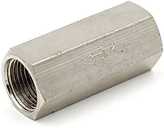 Tulead 10mm//0.4 One Way Check Valve Aluminum Alloy Non Return Check Valves 2PCS
