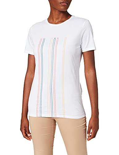BOSS Teblurred Camiseta, Blanco (White 100), Small para Mujer