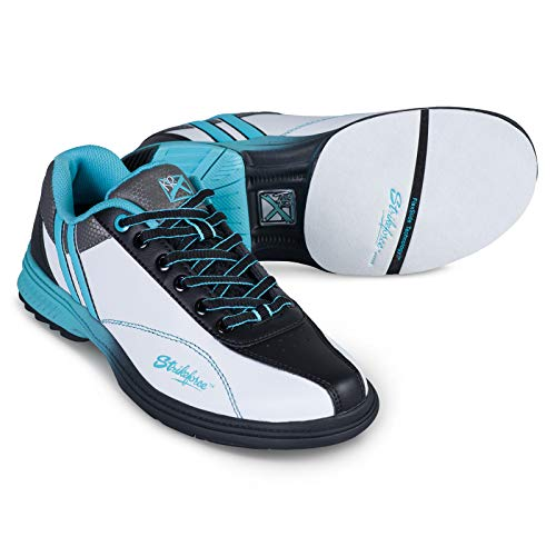 KR Strikeforce Starr White/Black/Teal Bowling Shoes LadiesWhite/Black/Pink 11 M US