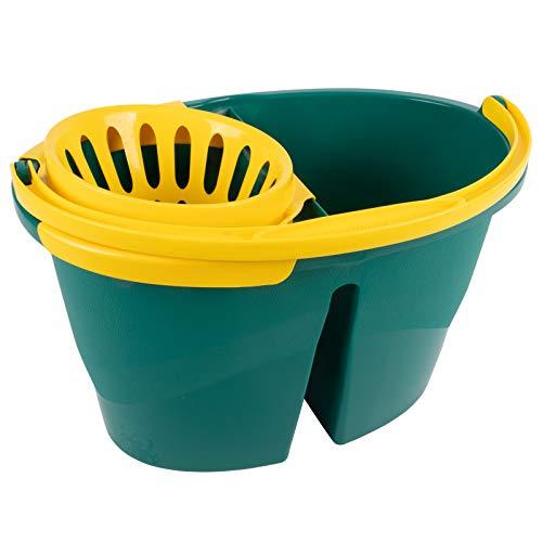 La Briantina Secchio in plastica a vasche separate – capacità 16 litri – linea Stupenda
