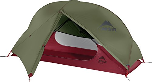 MSR HUBBA NX SOLO BACKPACKING TENT (GREEN/RED)