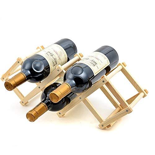ducomi®–Botellero de madera Plegable Para Vino y enoteca–Elegante y refinado expositor con papel de los vinos de regalo
