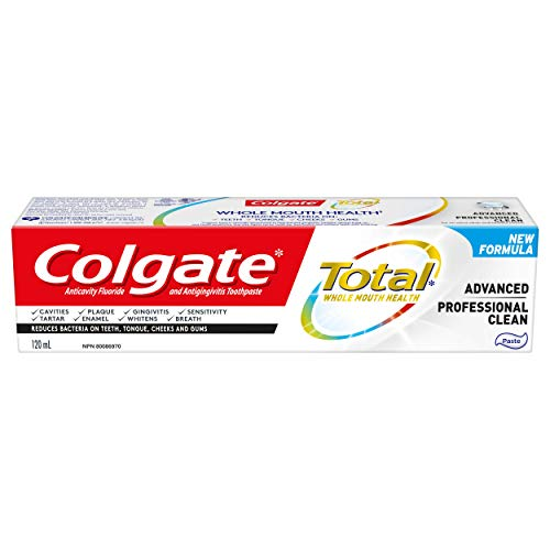 Colgate Total Advanced Toothpaste, Professional Clean, 120 mL
