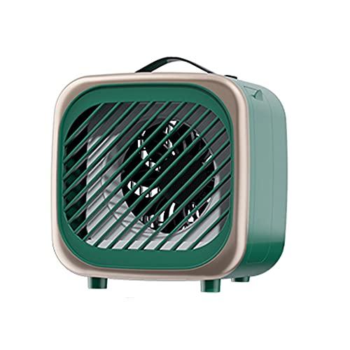 SUNDAY HOME Acondicionador de Aire portátil con 2 velocidades del Viento, Mini refrigerador de Aire Personal Tranquilo, Ventilador de enfriamiento pequeño USB, Oficina en casa al Aire Libre
