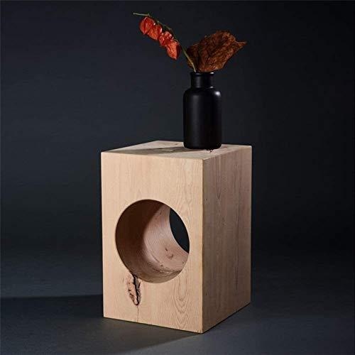 ZXNRTU Diseño Simple Mesa de Muebles for el hogar y la Oficina Pequeños Espacios únicos Natural Simple Forma Cuadrada Moderna de Madera Mesa Auxiliar for la Sala