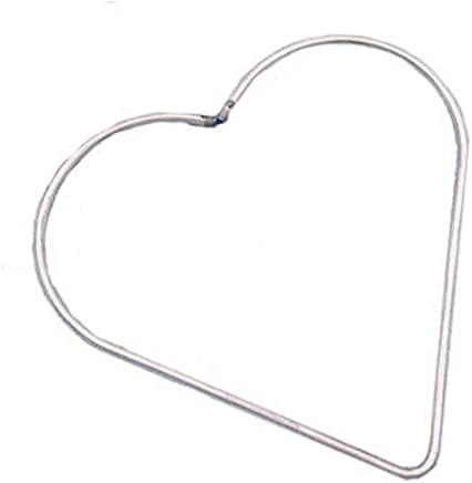 8 cm YOFO 1 St/ück Herz Traumf/änger Metall Ringe Metall Kreolen Makramee Ring f/ür Traumf/änger und Basteln 80-120 mm Metall Silber