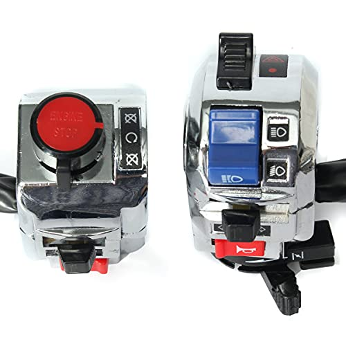 PIAO piaopiao 2X 12V 22mm 7/8'Cuerno de Motocicleta de la luz de Giro de la luz de la luz de la luz del Interruptor de Encendido del Interruptor del Manillar del Interruptor de la Manillar Universal