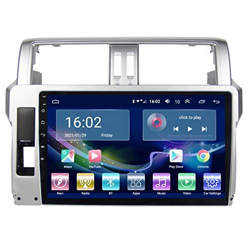 TIANDAO Android Autoradio Radio Doble DIN Sat Nav 2.5D Pantalla táctil Navegador GPS FM Am Reproductor de Control del Volante Adecuado para Toyota Prado 2014-2017(Color:WiFi 2G+32G)