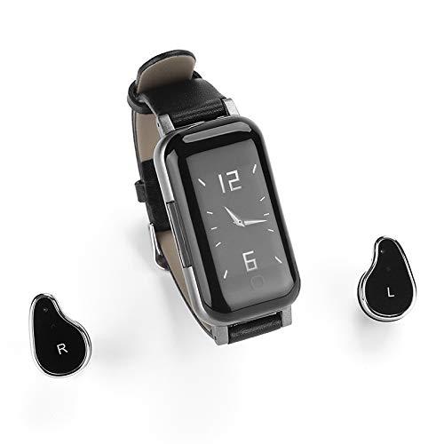 Reloj inteligente 2 en 1 con auriculares Bluetooth TWS, pulsera inteligente, ritmo cardíaco, presión arterial, banda de música