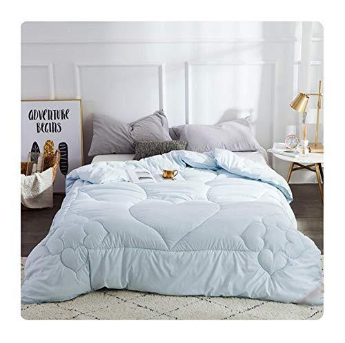 Mulberry Seide Quilts Betteinsatz Winterdecke King-Size-220 * 240 voll Twin Sommerdecke (Color : Blue, Size : 220x240cm 3kg)
