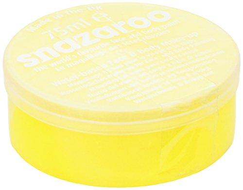 Snazaroo - Maquillaje al agua para cara y cuerpo (75 ml)- color amarillo brillante