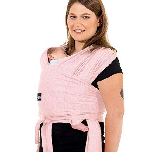 Babytrage einfach zu tragen (einfach anzuziehen), verstellbar Unisex - Mehrzweck-Babytrage bis 10 kg geeignet - Babytrage - Pink - Registered Design KBC®