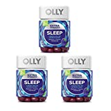Olly Extra Strength Sleep Gummy! 50 Gummies BlackBerry Mint Flavors! Formulated with Melatonin, L-Theanine & Botanicals! A Boost for The Ultimate Sleep! Choose from 1 Pack, 2 Pack or 3 Pack! (3 Pack)