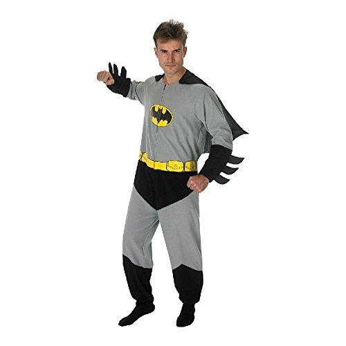 Batman Onesie mit Cape für Herren zu Karneval Fasching Kostüm Gr.L