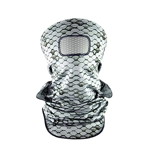 GillzMask Neck Gaiter and Face Mask, Fishing Face Masks for Men and Women (Scales High Rise Grey)