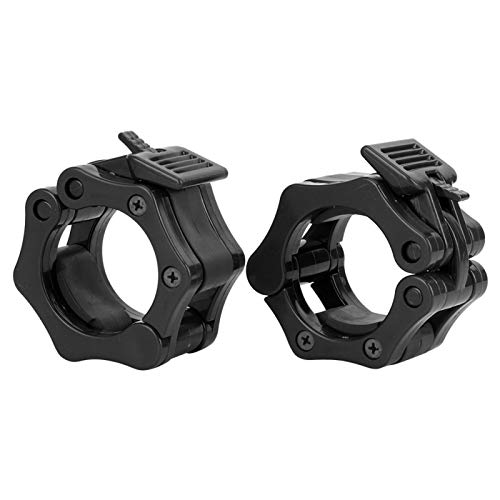Shipenophy Collar de barra de plástico para levantamiento de pesas(negro)