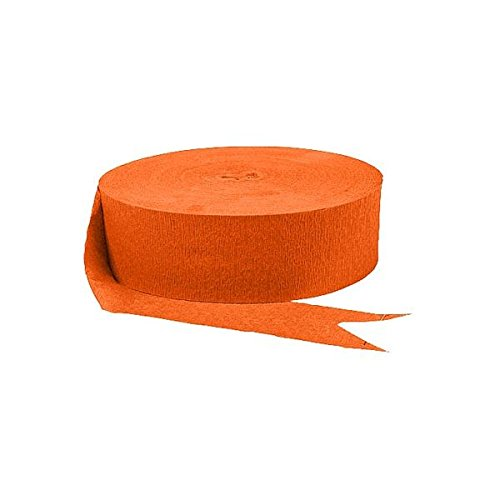 Amscan Jumbo Roll Party Crepe Streamer | Orange Peel |500 | Party Decor -