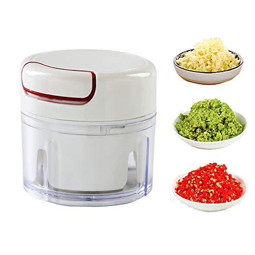 Affettatrice manuale per alimenti, tritaverdure a mano, mini tritavere/tritatore/mixer/frullatore per tritare frutta, verdura, noci, cipolle per salsa, insalata, pesto, insalata e purea bianco