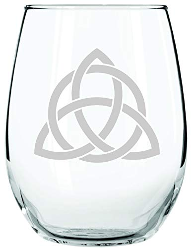 IE Laserware Triquetra | Stemless Wineglass | An ancient Celtic symbol, a rune of protection. One of the oldest symbols; during 500 BC it symbolized the triple goddess (maiden-mother-crone).