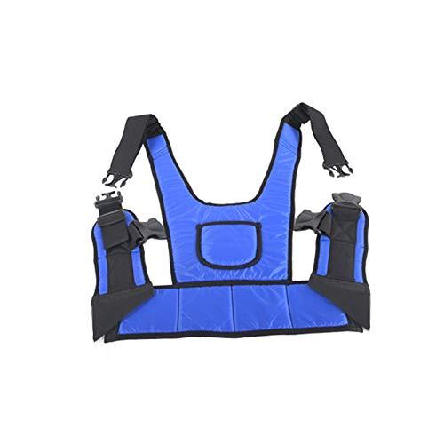 WuLien Cinturón de Sujecion Abdominal para Silla de Ruedas o sillón geriátrico, Cinturón Completo para Silla Ruedas (Tronco-Pelvis) para Personas Mayores discapacidad,L