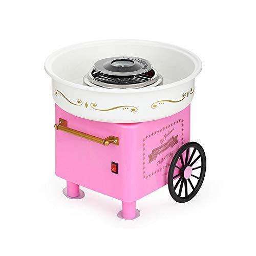 UFLIZOGH Zuckerwattemaschine für Zuhause Retro Cotton Candy Machine für Zuhause Küche Party (Rosa, 30 x 30 x 28 cm)