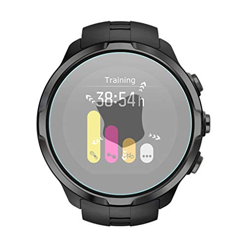 Shan-S 5PCS Clear Ultra Film Tempered Glass Screen Protector for SUUNTO 9 Smart Watch [9H Hardness] [Anti-Fingerprint] [Bubble Free] [Built-in Anti-Shatter Film ] 2