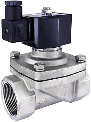 "Duda Diesel 2WJ40040N:24v 40 mm 1-1/2"" NPT Normally Closed Stainless Steel Viton 2-Way Solenoid Valve, NPT Female Connector, Stainless Steel from Duda Diesel"