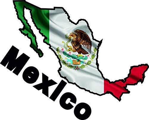 10cm! Aufkleber-Folie Wetterfest Made IN Germany Mexiko Mexico UV&Waschanlagenfest Auto-Sticker Decal Fahne Flagge Wappen Land FD100 Profi Qualität bunt farbig Digital-Schnitt!