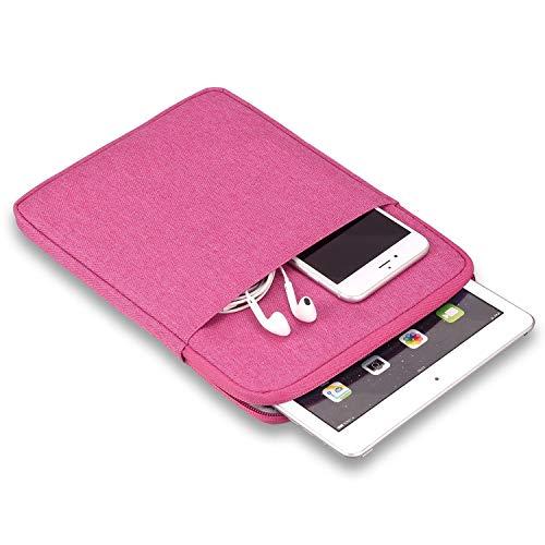Bolsa de Bolsillo para tabletas portátiles de 11 Pulgadas - iPad 2018 2017 10.2 Pulgadas 2019 iPad 2 3 4 Pro 9.7 / 10.5 / 11 Pulgadas Bolsa de Viaje con Bolsa de Almacenamiento Adicional (Rose Red)