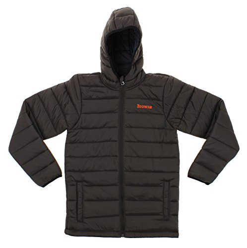 Outerstuff NFL Youth Solid Packawy Puffer Jacket, Cleveland Browns