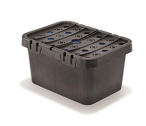 Esotec 101716 - Caja de filtro con esponjas para bombas solares de estanque, filtro de estanque
