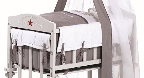roba Berceau cododo 'Babysitter 4 en 1', bois laqué en gris clair, collection...