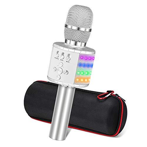 Ankuka wireless karaoke microfoni altoparlante, 4 in 1 Handheld Portable Bluetooth Home KTV, lettore audio di qualità superiore per canto e registrazione, compatibile con Android e iOS