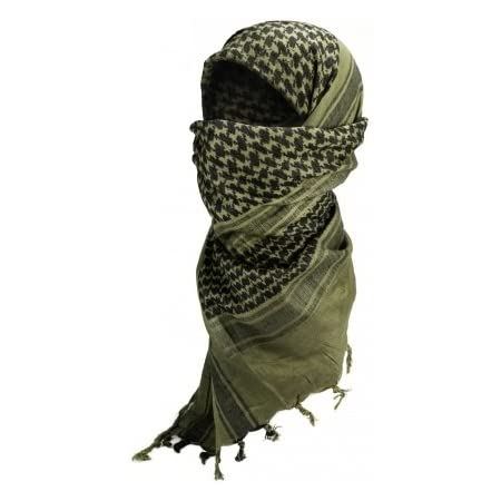 Airsoft Paintball Outdoor Mil-Tec Shemagh Keffieh Cheche Kaki uni Foulard Palestinien