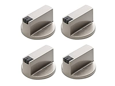 KINGZHUO 4 Pc 6MM 0.236 in Stainless Steel Round Gas Stove Knobs Cooker Oven Hob Control Switch Fit The 6 MM Shaft (4 Pcs 6MM)