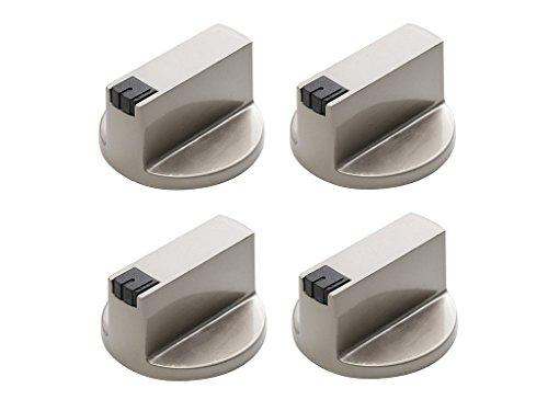 UCTOP STORE Universal-Knöpfe für Gasherd, rund, Edelstahl, 8 mm, 180 Grad, 4 Stück