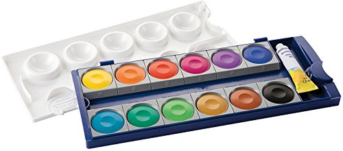 Pelikan Opaque Watercolor Paint Set, 12 Colors Plus Chinese White Tube (720854)