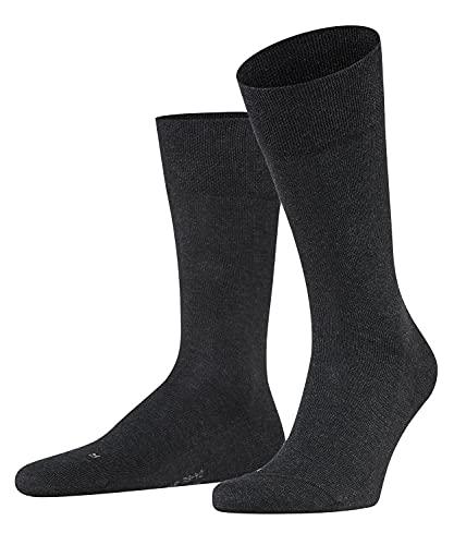 FALKE Herren Socken Sensitive London, Baumwolle, 1 Paar, Grau (Anthracite Melange 3080), 43-46 (UK 8.5-11 Ι US 9.5-12)