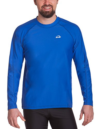 iQ-UV Herren UV-Schutz T-Shirt IQ 300 Watersport Long Sleeve, Dark-Blue, XL (54)