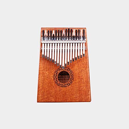 FYstar Acacia Mahogany Solid Wood Finger Thumb Piano Pocket Size Supporting Bag Keyboard Marimba Wood Musical Instrument(Wood Color&solid Wood (10 Key))