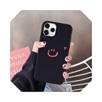 AuangaoカートゥーンスマイルフォンケースFor iPhone 12 Mini 11 Pro 7 XS MAX X SE 2020 X XR 6 8 Plus Candy Color Soft Silicone Cover Fundas-6-For iPhone 12 mini