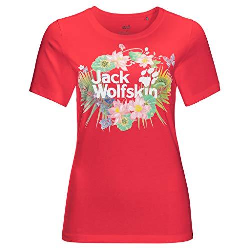 Jack Wolfskin Paradise Logo T-Shirt Tulip red XXL