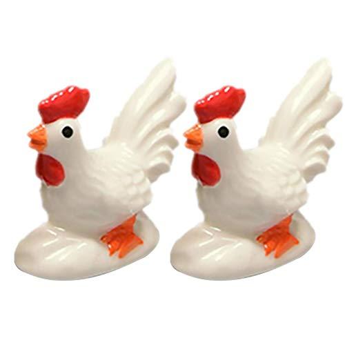 ZHFF 2 uds, Reposa Palillos, figuritas de Gallo, Soporte de cerámica para Cuchara, Tenedor, Estante, Palillos, Utensilios, Soporte para Cubiertos, Suministros para Palillos, Resto