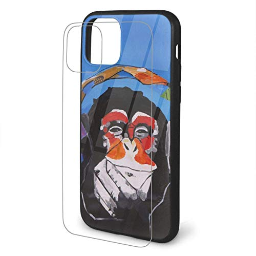 DAWN & ROSE Funny Gorilla iPhone 11 TPU Glass Phone Case Series Carcasa a prueba de golpes y arañazos para iPhone 11 Pro Max