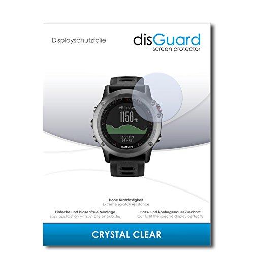 disGuard Displayschutzfolie für Garmin Fenix 3 [2 Stück] Crystal Clear, Kristall-klar, Unsichtbar, Extrem Kratzfest - Displayschutz, Schutzfolie, Glasfolie, Panzerfolie