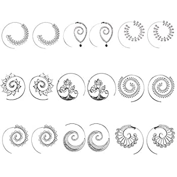 Best silver spiral earrings Reviews